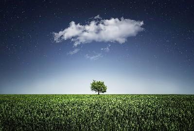 坐在一朵云下面思考